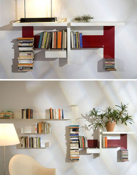 Double Diy Invisible Shelf Meets Abstract Modern Sculpture Invisible Shelves Shelves Ikea Wall Shelves