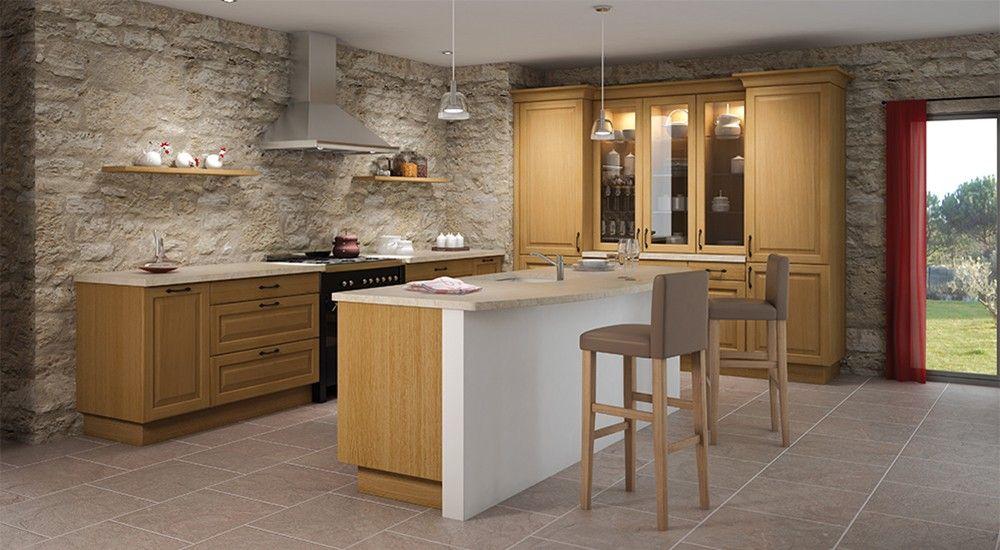cuisine équipée rustique en bois | Idées pour la maison cuisine ...