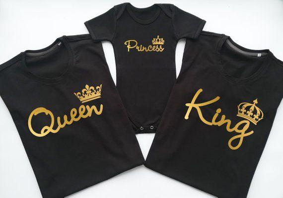 d5bd5da0 King Queen Princess matching family tshirts, King Queen Princess ...