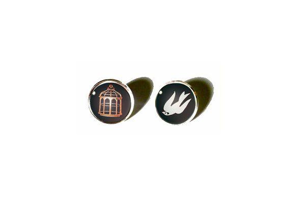 Bioshock Infinite Earrings  Song Bird or Cage by NineTailsShop, $11.00