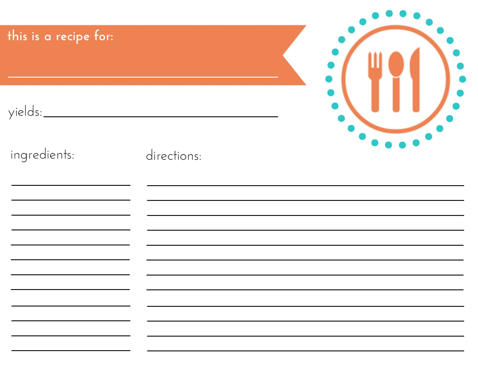 Recipe Card   Make    Recipe Cards And Cards