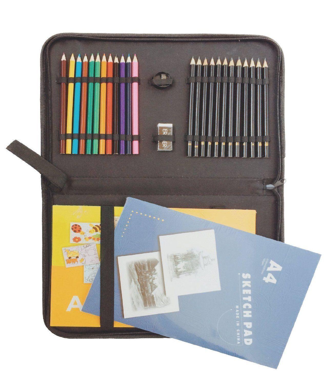 29 Piece Drawing and Sketching Pencil Art Set: Art ...