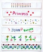 Kids can decorate plain white Martial Arts headbands with fabric paint 18020f4bffa