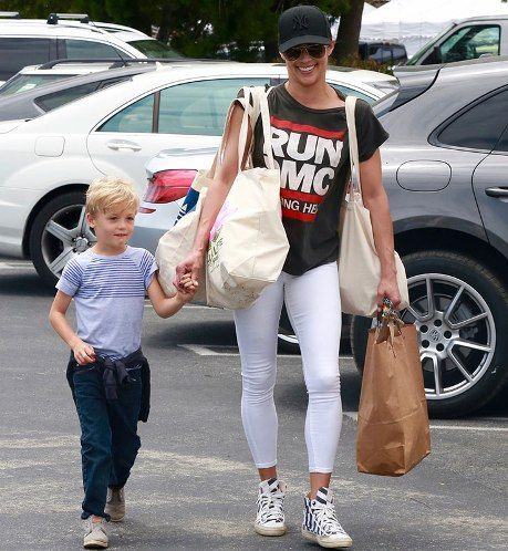 Actress Paula Patton steps out with her son