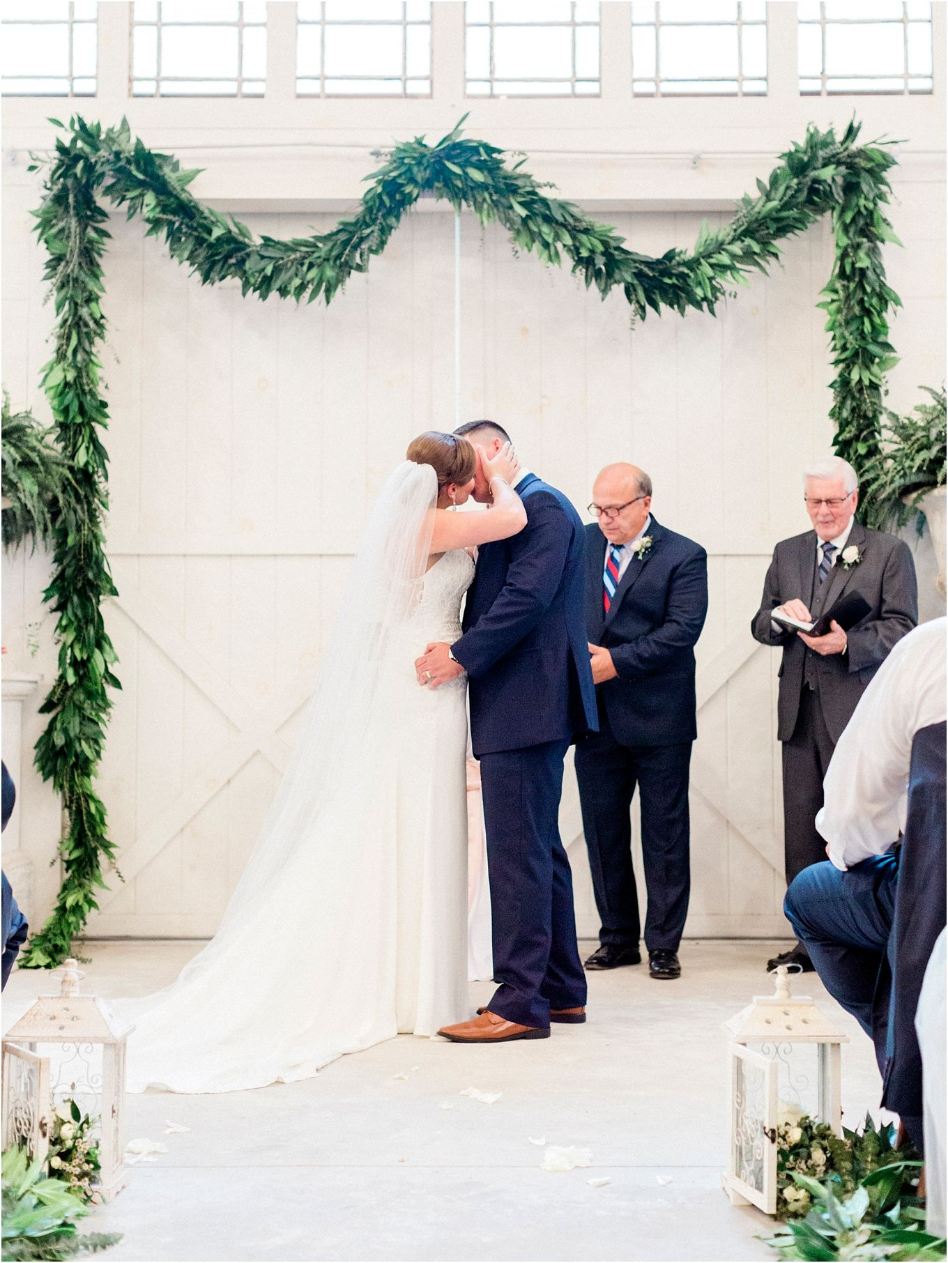 Wedding decorations rental october 2018 Elegant Blush and Navy Wedding at Chandler Oaks Barn in St