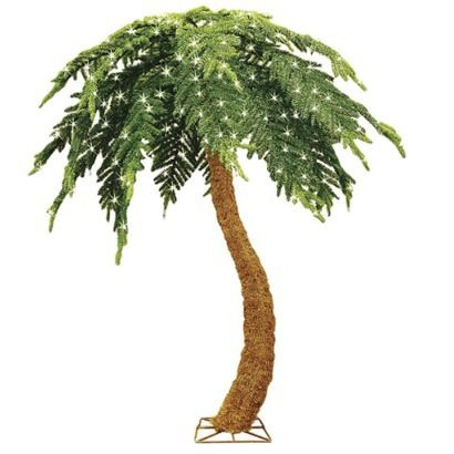 Great Price Pre Lit Palm Tree With 400 Clear Lights 321165c