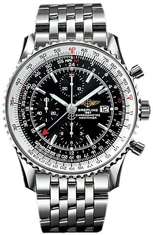 breitling aviator watch prices l41z  Breitling Navitimer World GMT Mens Wa $5,90000