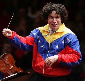 Gustavo Dudamel (Venezuelno, gran director de orquesta)