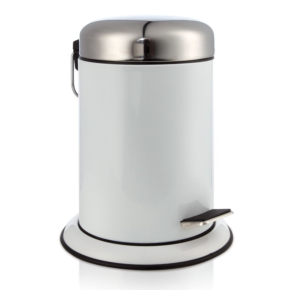 White Bathroom Bin metal pedal waste bin | metals, bathroom and modern