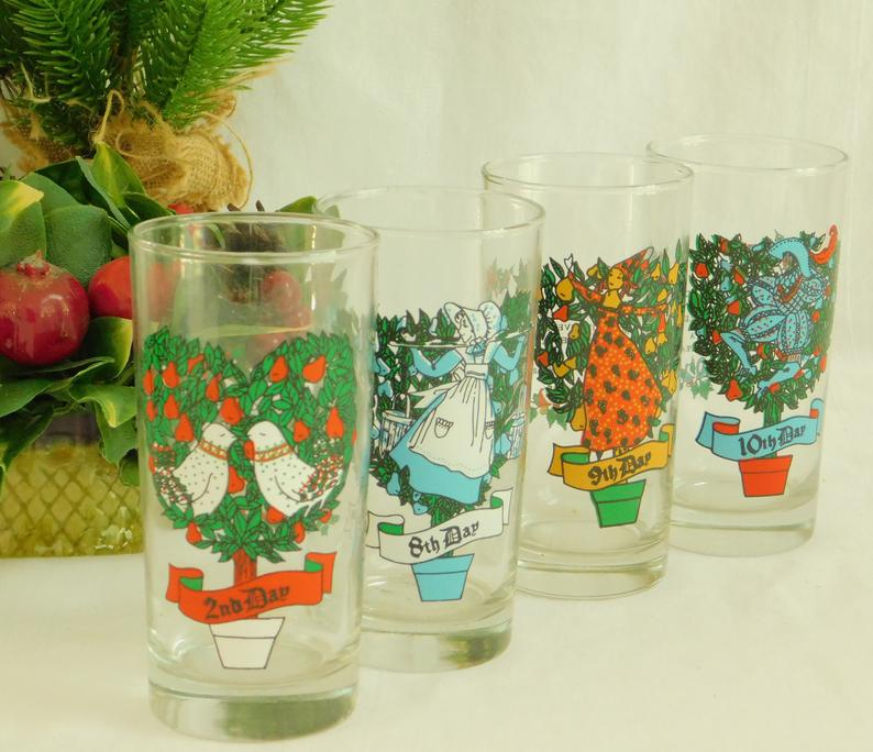 Twelve Days Of Christmas Replacement Glasses American Glass Etsy