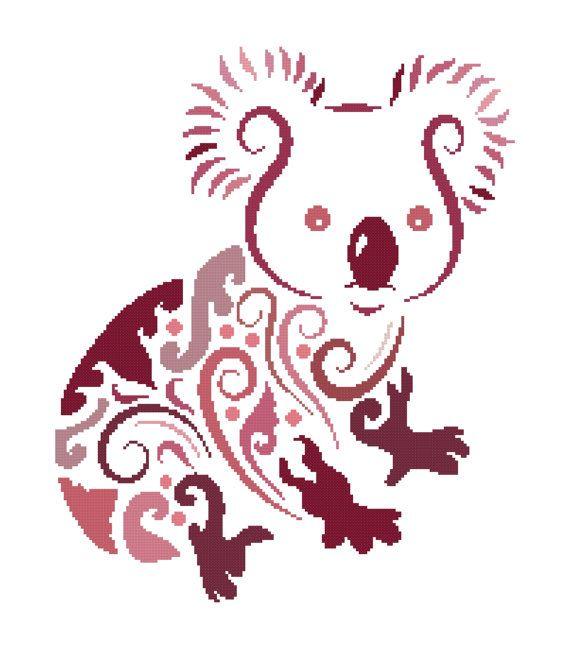 Koala Cross Stitch Pattern Modern Cross Stitch Pattern Origami