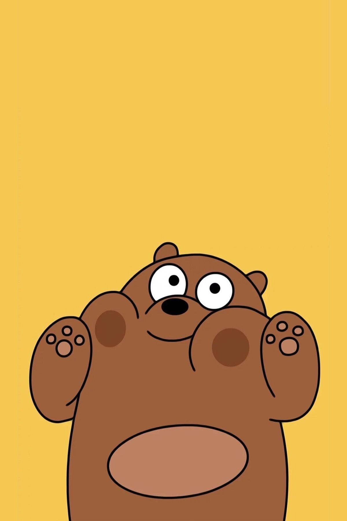My Phones Wallpaper We All Need Grizz In Our Life Throughout We Bare Bears Grizz Wallpaper Bear Wallpaper We Bare Bears Wallpapers Cartoon Wallpaper