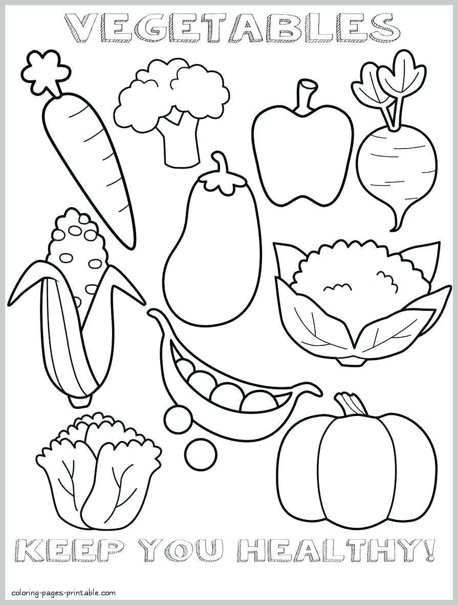 Coloring Page For Kids Coloring Pages Meal Healthy Food Fruit Coloring Pages Food Coloring Pages Vegetable Coloring Pages
