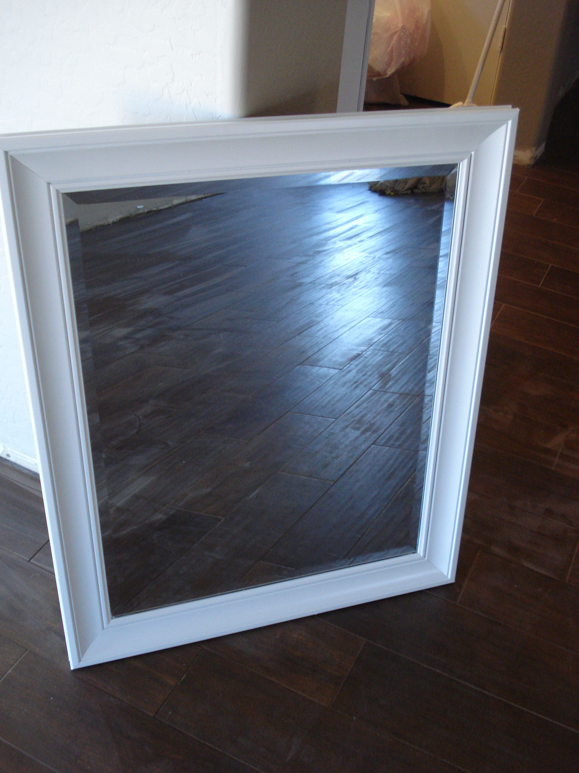 How to spray paint a mirror frame. | Painted mirrors, Spray painting ...