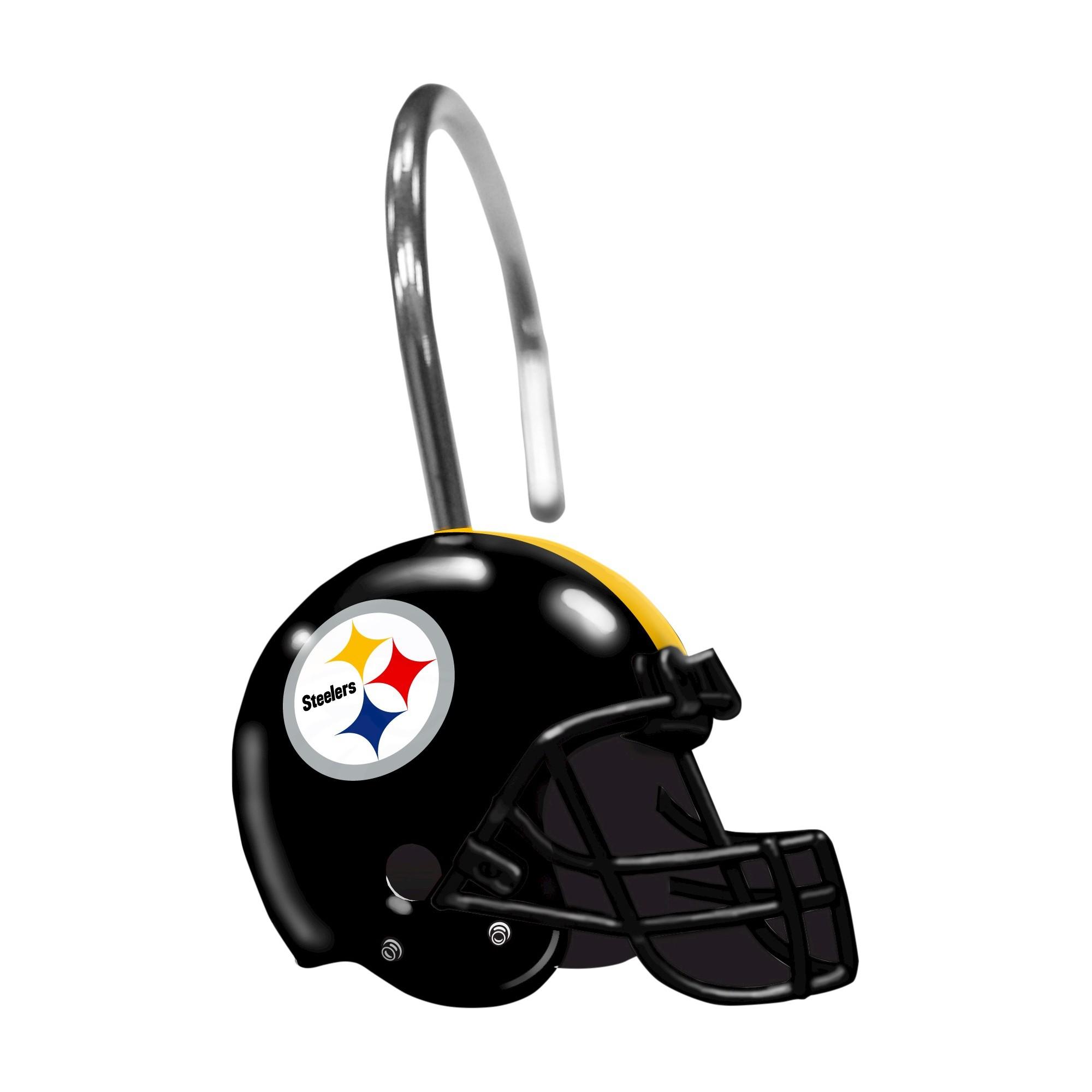 Northwest Pittsburgh Steelers Shower Curtain Rings Shower Curtain Rings Steelers Shower Curtain Hooks