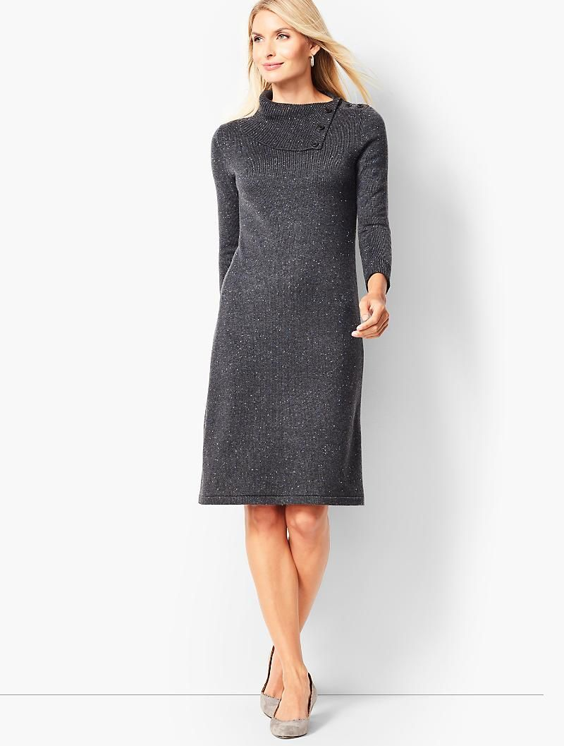 Donegal Cowlneck Sweater Dress Talbots 120 Cowl Neck Sweater Dress Sweater Dress Dress For Petite Women [ 1057 x 800 Pixel ]
