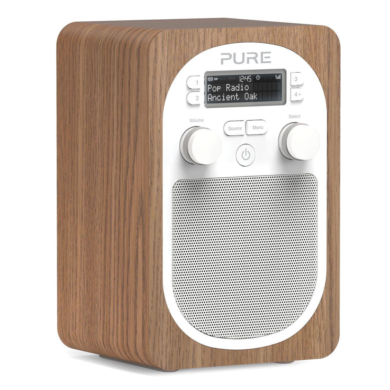 Pure Evoke D2 D240 Portable DAB Digital and FM Radio Oak VL-62102 ...