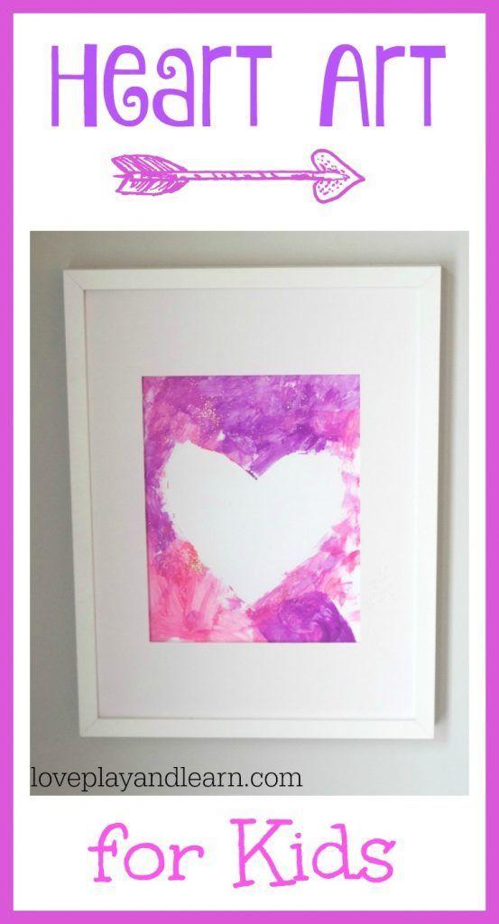 Heart Painting Art for Kids