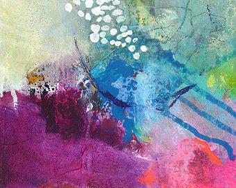 Pintura Original Abstrato Pequena Pintura Pintura