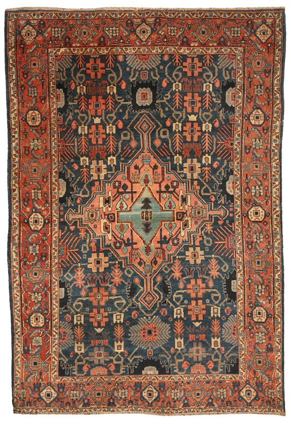 Antique Melas Rug Antique Qashqai Rug Antique Persian Senna Rug