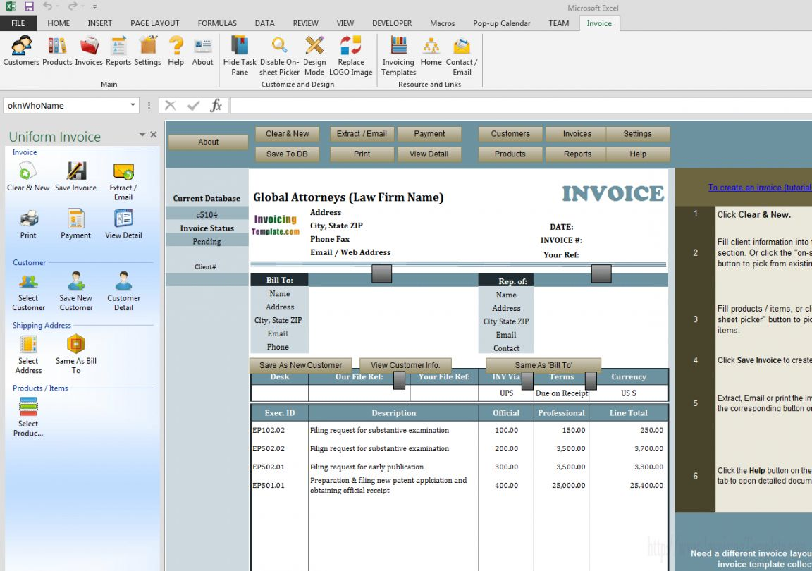 Explore Our Sample Of Law Firm Receipt Template Invoice Template Receipt Template Invoice Template Word