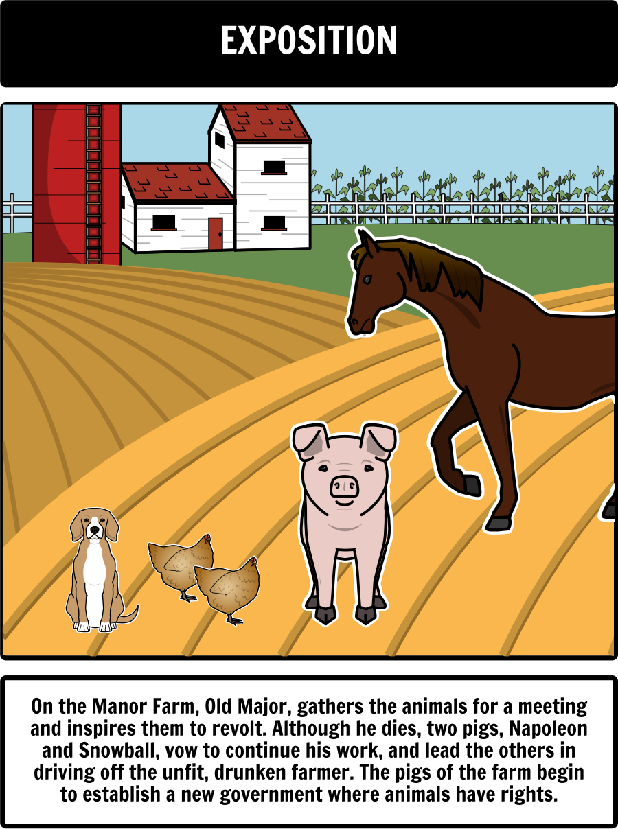 animal farm by george orwell close up of plot diagram  old major animal farm allegory essay animal farm essays title animal farm by the other animals in the farm george orwell wrote animal farm as an