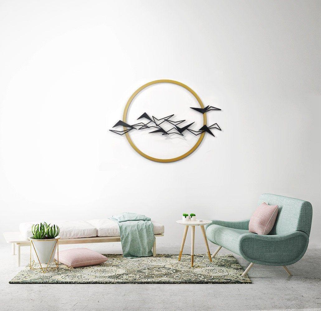 Black birds metal wall art metal home decor flying