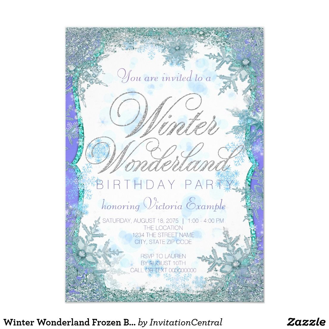 Winter Wonderland Frozen Birthday Party Invitation Zazzle