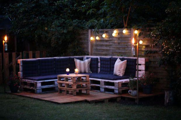 Salon de jardin #palette #DIY #tutoriel   Extérieur   Pinterest