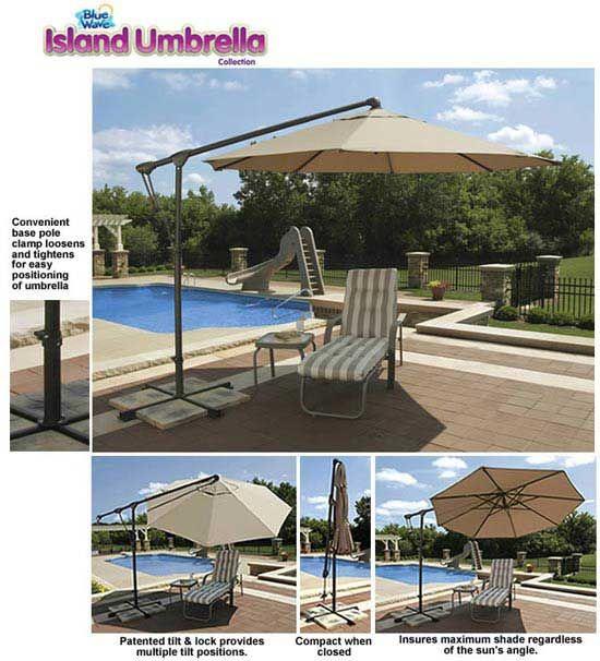 Tobago 10' Octagon Cantilever Umbrella