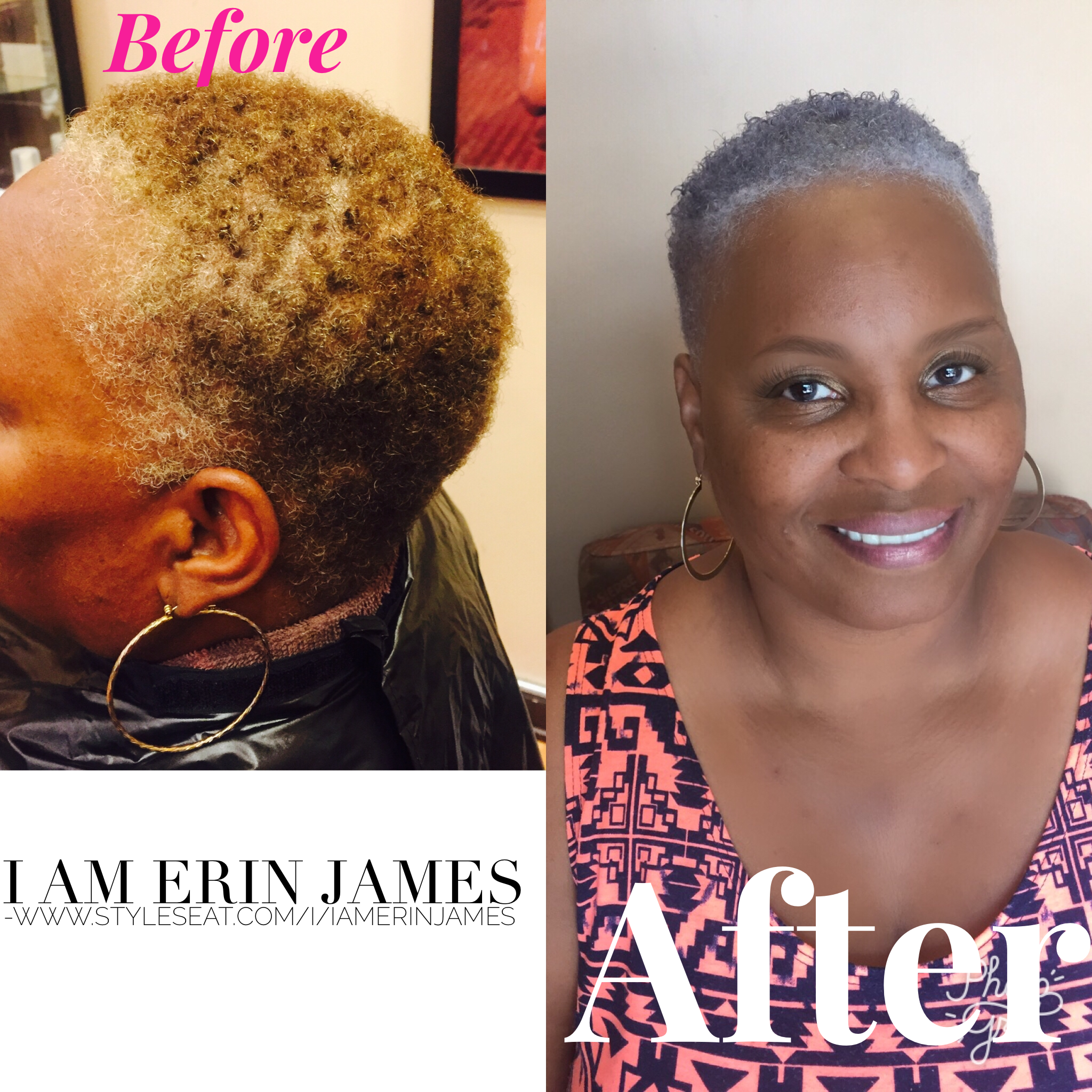 professional hairstylist newport news color corrections brown hair color with mixed silver to gray hair color - Professional Hairstylist