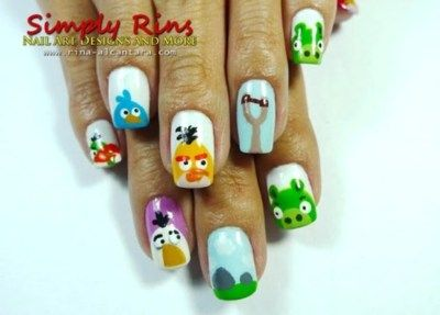 Angry Bird Nails