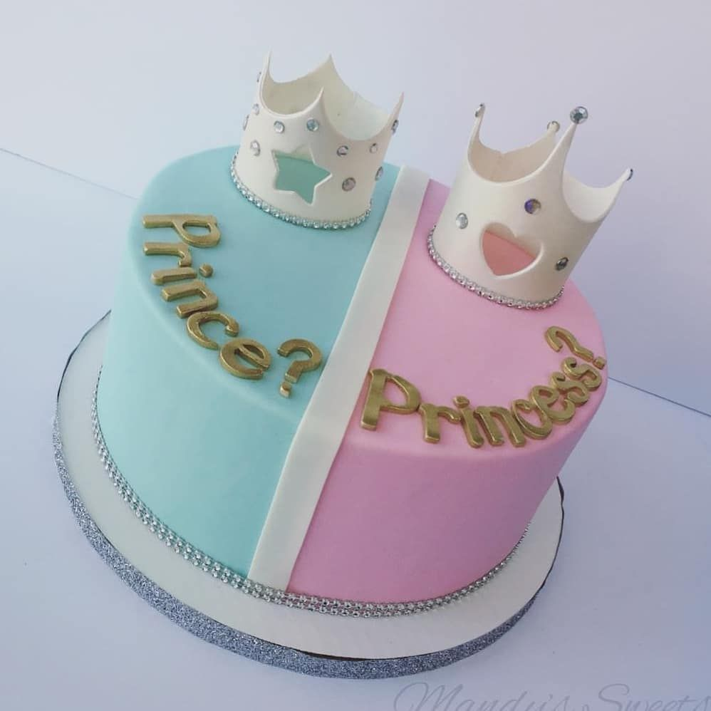 Gender Reveal Party Cakes A Lot Of Great Ideas Swipe To Get Inspiration Credits Ar Baby Reveal Cakes Gender Reveal Cake Baby Shower Gender Reveal Cake