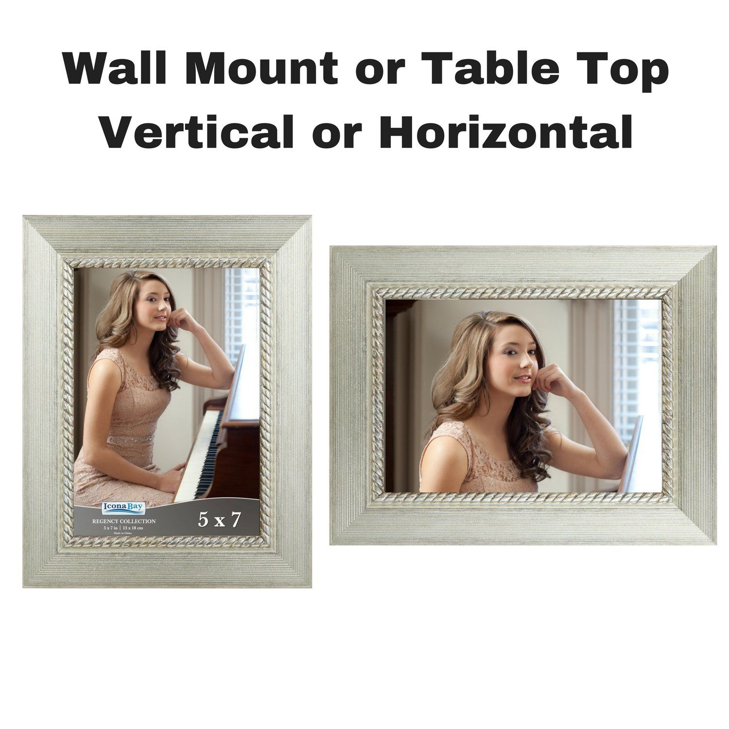 Icona Bay 5x7 Picture Frame 5 X 7 3 Pack Silver Photo Frames Wall Mount Or Table Top Black Velvet Back Landscape As 7 5x7 Picture Frames Frame Photo Frame Wall 5 x 7 picture frames