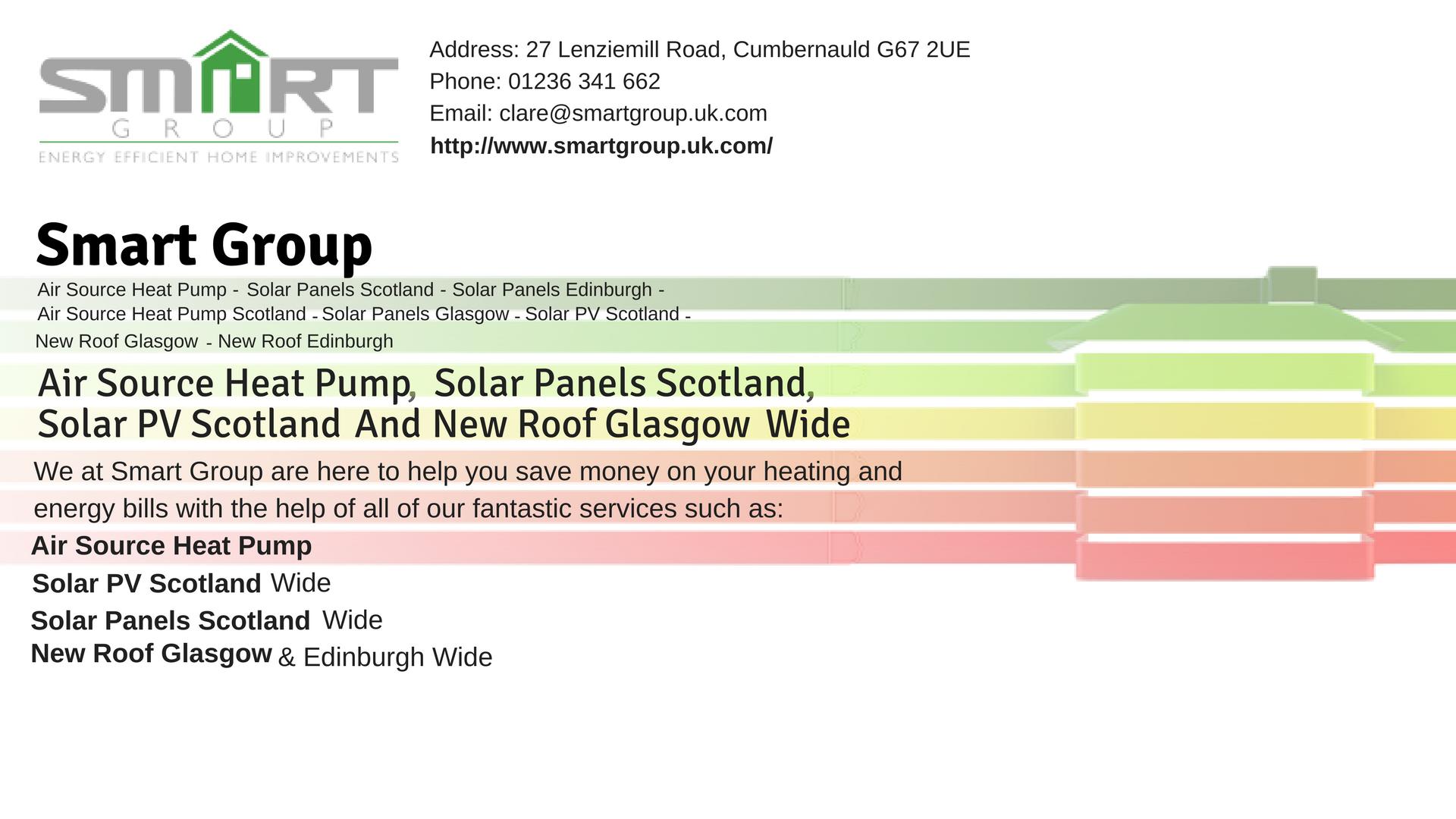 Air Source Heat Pumps Glasgow, Edinburgh Smart Group