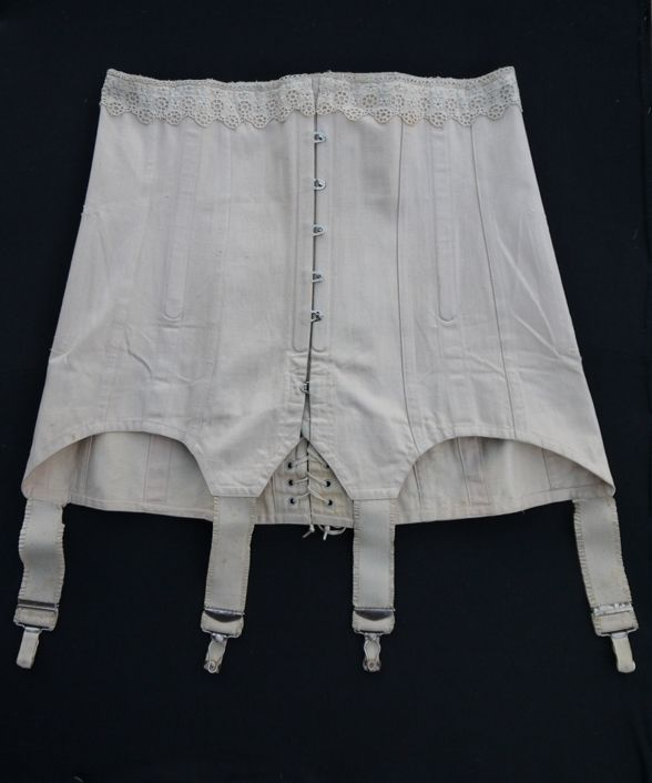 ancien corset serre taille 1900 dentelle lacet morand dinard dessous feminin french vintage. Black Bedroom Furniture Sets. Home Design Ideas