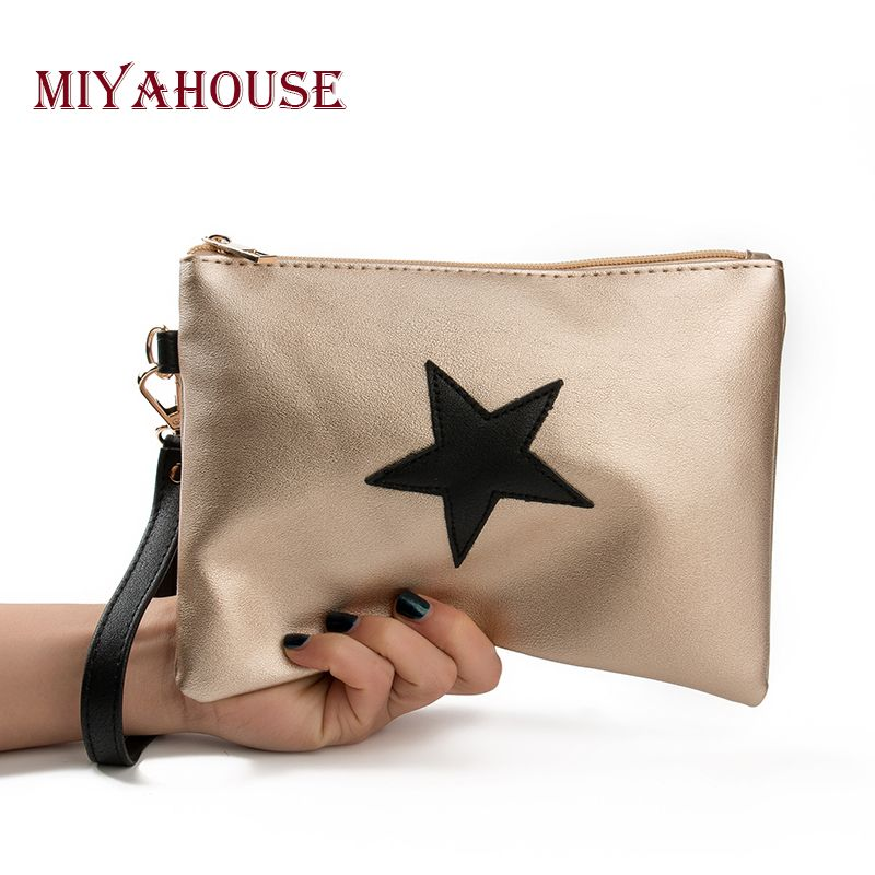Miyahouse Brand Designer Women Day Clutches Bag Star Design Envelope Ladies  Evening Party Bag Soft Leather Handbags High Quality   Price   10.90   FREE  ... 89d5aad5f08ea