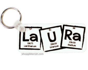 Science keychain custom name i 3 nerds periodic table of science keychain custom name i nerds periodic table of elements chemistry teacher gift idea urtaz Image collections