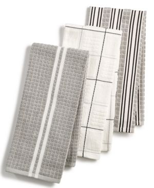 Martha Stewart Collection 3-Pc. Terry Cloth Kitchen Towels, Created