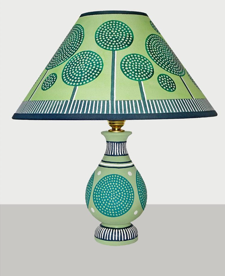 This Show Stopping Piece Has Been Painted By The Extremely Talented British Designer Cressida Bell Cressi Painting Lamps Cressida Bell Lamp Shades