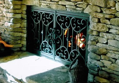 Fireplace Door Guy Custom Wrought Iron Fireplace Doors Amp Screens Wrought Iron Fireplace Screen Fireplace Doors Fireplace
