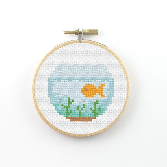 Goldfish Cross Stitch pattern goldfish pattern fish by