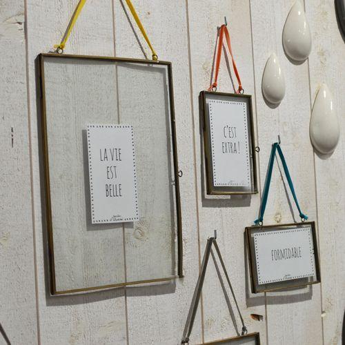 Cadre photo en métal et ruban coloré (3 modèles) Jardin d\'Ulysse ...