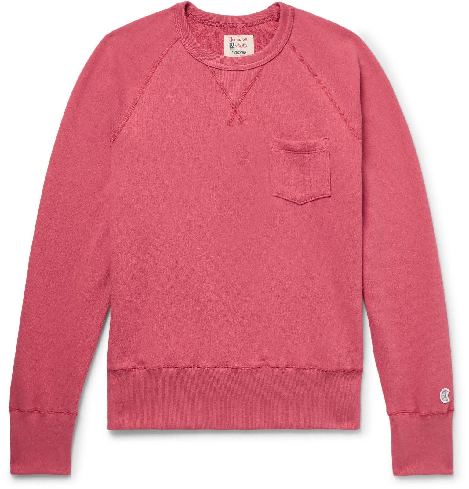 fdc540882632 Todd Snyder + Champion - Slim-Fit Loopback Cotton-Jersey Sweatshirt ...