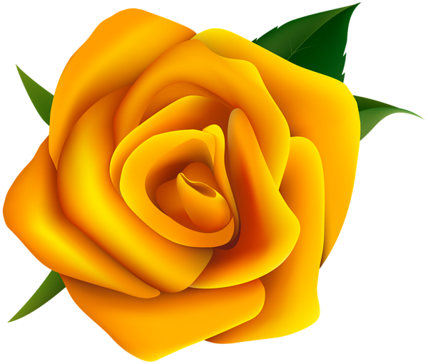 Yellow Rose Clipart PNG Image Virágok
