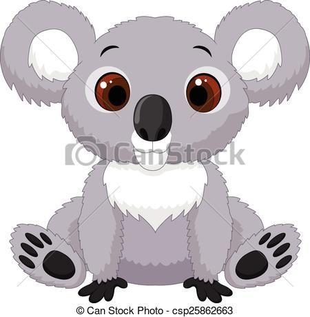 Giocattoli di peluche koala animale per i bambini dei cartoni