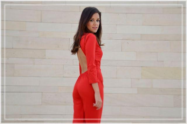 RED JUMPSUIT #kissmylook