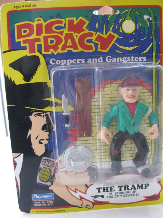 Vintage Dick Tracy Action Figure FACTORY SEALED