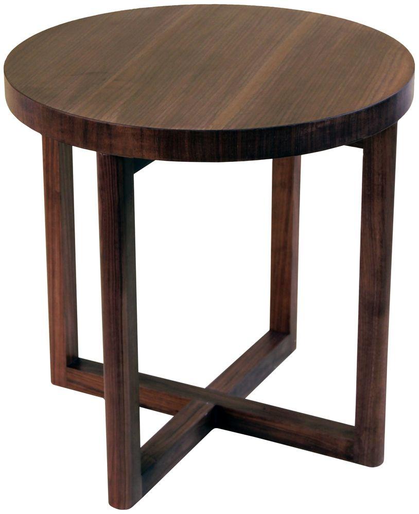 Round Cross Leg Side Table Walnut Interiors Online Side Table