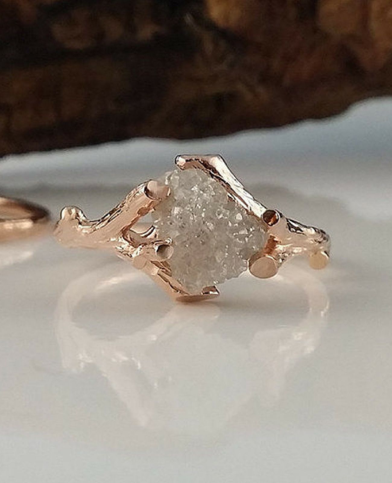 il engagement rings moonstone hulc stone three rose ring twig gold fullxfull p